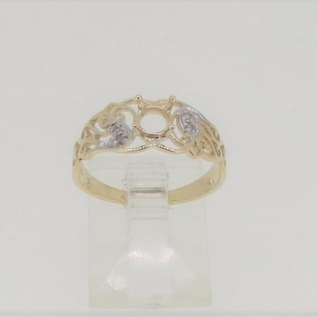 R2503, 5mm round facet, diamond set