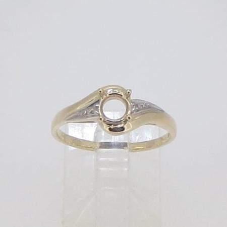 R2834, 5mm round facet, diamond set
