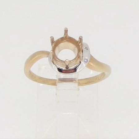 R2844m, 7mm round facet, diamond set