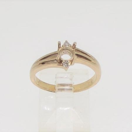 R2856, 5mm round facet, diamond set