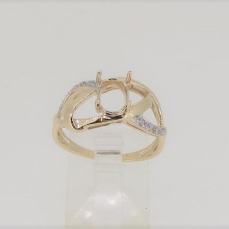 R3453a, 8mm x 6mm oval facet, diamond set