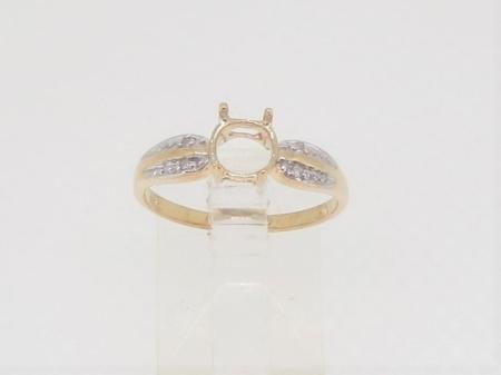 R3623, 6mm round facet, diamond set