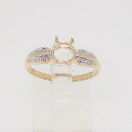 R3623, 6mm round facet, diamond set